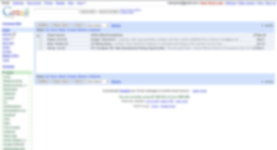 A blurred-out picture of Gmail