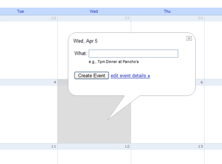 A picture of creating an event in Google Calendar