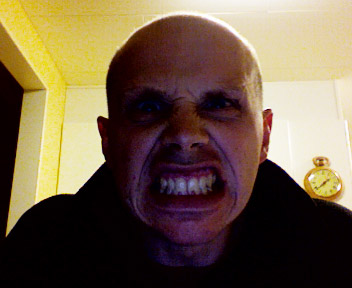 A picture of me being angry, taken with the iSight camera