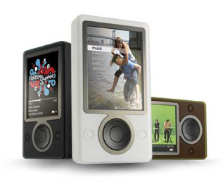 A picture of the Zune digital media player from Microsoft