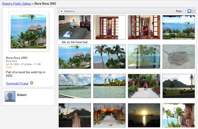 A picture of the medium thumbnail gallery view