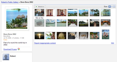 A picture of the small thumbnail gallery view