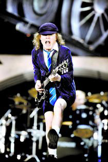 A picture of Angus Young of AC/DC at the Ullevi arena