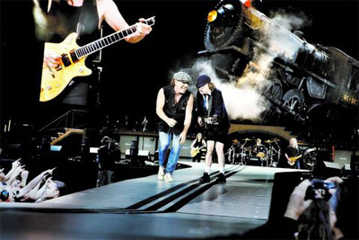 A picture of AC/DC at the Ullevi arena
