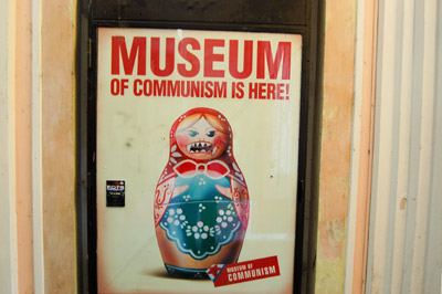A picture of the poster for the Museum of Communism