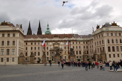 A picture of the Prague Castle