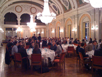 A picture from the speakers' dinner