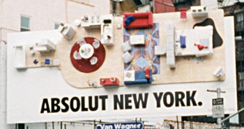 Absolut New York commercial sign